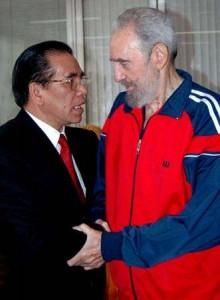 Fidel Castro à l'entraînement avec un ami