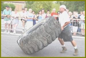 Un exercice un pneu difficile